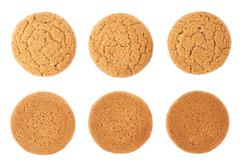 Set of cookies isolated over the white background Stock Photos