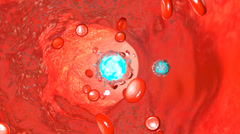 Blood Nerve, 3d animation Stock Footage