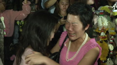 Death of King Women Cry Stock Footage