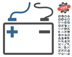 Accumulator Vector Icon With Tools Bonus Stock Illustration