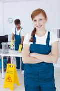 Cleaning service worker Stock Photos