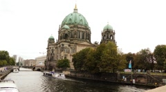 Berlin Cathedral is Evangelical Church, Germany. Stock Footage