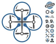 Drone Screws Vector Icon With Tools Bonus Stock Illustration