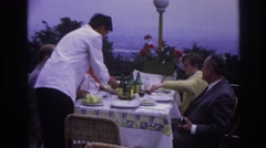 1967: couple eating cake feeding each other love seen FRANCE Stock Footage