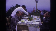 1967: fine dining at an outdoor cafe FRANCE Stock Footage