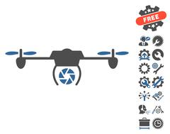 Shutter Spy Airdrone Vector Icon With Tools Bonus Piirros