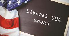 Composite image of liberal usa ahead Stock Photos