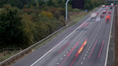 Motion controlled traffic time lapse, dusk Stock Footage