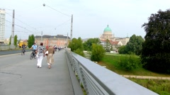 View of new Landtag building, Potsdam, Gwermany Stock Footage