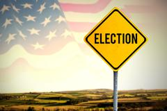 Composite image of election text Stock Photos