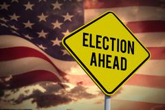Composite image of election ahead Stock Photos