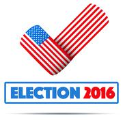 Symbol of Election 2016 Stock Illustration