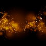 Bokeh gold dust glitter star background. Abstract milky way galaxy. Stock Photos