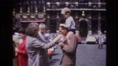 1967: family having a good day with their kids at an amusement park. PARIS Stock Footage