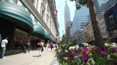 People on 34th Street Manhattan Stock Footage