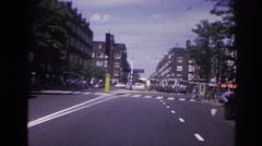 1967: driving through a city in the morning PARIS FRANCE Stock Footage