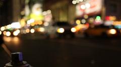 Night Traffic Sixth Avenue Manhattan Stock Footage