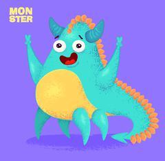Cute monster set for halloween Stock Illustration