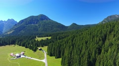 Val Visdende aerial view, Italian Alps Stock Footage