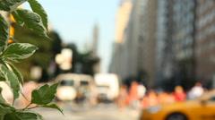 Columbus Circle Traffic Manhattan Stock Footage