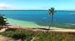 Bahia Honda State Park, Florida. Spectacular aerial view Stock Footage
