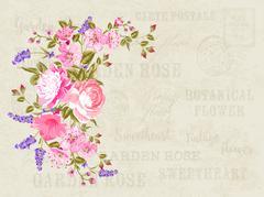 Flower garland illustration Stock Illustration