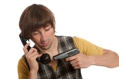 Phone terrorist Stock Photos