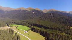 Panoramic aerial view of Dolomites valley, Italy Stock Footage