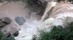 Praba waterfall in Phurua, Loei, Thailand (250fps ,Slow Motion ) Stock Footage