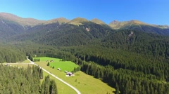 Panoramic aerial view of Val Visdende, Italian Alps Stock Footage
