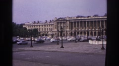 1967: cars driving champs elysee in paris france PARIS FRANCE Stock Footage