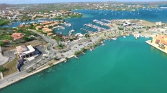 Aerial overview at Spanish Water in Curacao Stock Footage