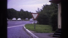1967: many old model cars are running through the road PARIS FRANCE Stock Footage