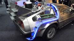 DeLorean DMC-12 Time Machine Stock Footage