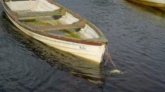 The boat named Katie on the port Ireland Stock Footage