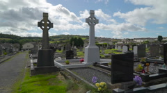The Carrowmore Cemetery in  Ireland Stock Footage