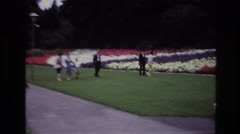 1967: adults and child admire landscaping at historic site OTTAWA CANADA Stock Footage
