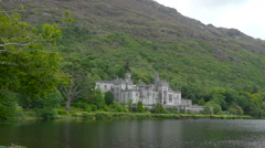 The Kylemore Abbey monastery in  Ireland Stock Footage