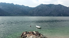 The Garda Lake between Mountais, Italy. Stock Footage