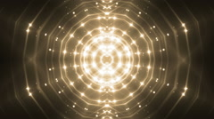 VJ Lights Gold Flashing Spot light. Stock Footage
