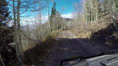 Mountain trail aspen pine forest ATV POV 4K Stock Footage