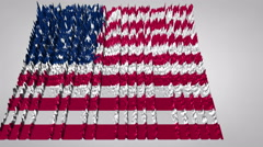 3d sound wave chart textured with the US flag Stock Footage