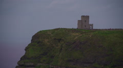 Zoom out view of the OBriens Tower in  Ireland Stock Footage