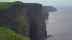 The stunning scenery in Moher Cliffs  Ireland Stock Footage