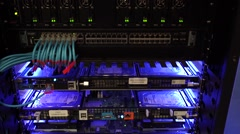 Server in a Data Center Stock Footage