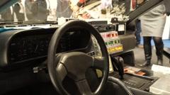 The Dashboard in a DeLorean DMC-12 Time Machine Stock Footage
