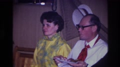 1967: adults grouped together at a party. OTTAWA CANADA Stock Footage
