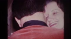 1967: man and woman dance closely, spinning in a circle OTTAWA CANADA Stock Footage