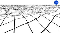 Abstract polygonal wave wireframe background. Vector illustration Stock Illustration