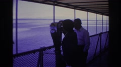 1967: woman on the ship, sightseeing in the far distance. OTTAWA CANADA Stock Footage